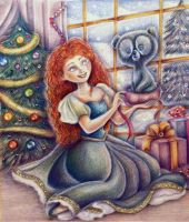 Merida (Christmas time) by Alena-Koshkar