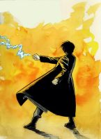 Roy Mustang color sketch by astridv