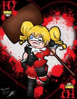 Harley Quinn Card by ruzovymonster