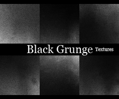 Black Grunge Icons Textures by blackavalon3