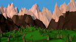 Learning C4D Day 1: Low-poly Summer hill by kaki-tori
