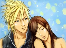Cloud x Tifa by ezysummers