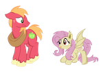 Flutterbat And Big Macintosh by PaulyVectors