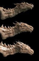 Dragon zbrush sculpt by Smoke2007