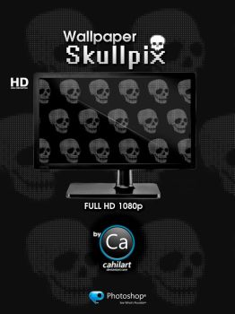 Wallpaper Skullpix by CaHilART