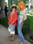 Akon11: Luffy and Nami by kojika