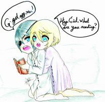 Alois and Ciel Sleepover - Request by Madam-Aracne