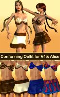 Conforming Outfit  V4 Alice by parrotdolphin
