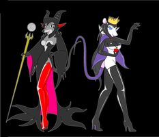 Maleficent and Grimhilde by NezumiYuki