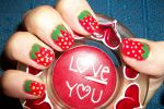 strawberry nail art by butterfly1980