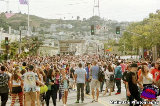 Crowds Of Castro At Pride 2015 by Minda1