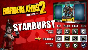 Borderlands2 Icon Pack3 - STARBURST by mentalmars