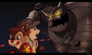 Chip 'n Dale Final Boss by AlinaCat923