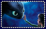 HTTYD Hiccup And Toothless Fan Stamp by MorkelebTheDragon