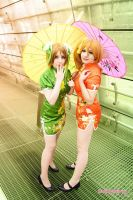 Love Live: Honoka and Hanayo by Fuwamii