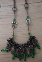 green bjd steampunk necklace by metal-otaku