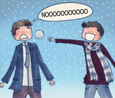 Snowball fight by ice-cream-skies