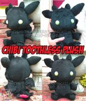 Chibi Toothless Plush by StudioNeko