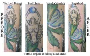 Mermaid Repair by madtattooz