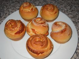 Cheese Brioche Buns by Bisected8
