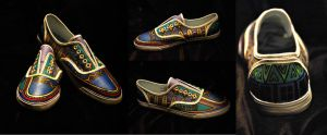 Tribal Shoes by aarontheawesome