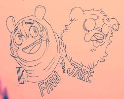 Finn and Jake WIP by MGMaguire