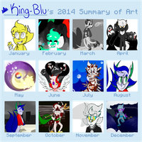 2014 Summary of Art by King-Blu