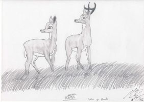 Faline and Bambi by MortenEng21