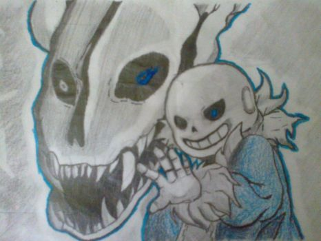 Another Sans Drawing by Malquia