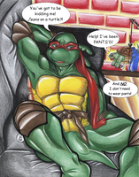 Why Should Raphael Wear Pants by alaer