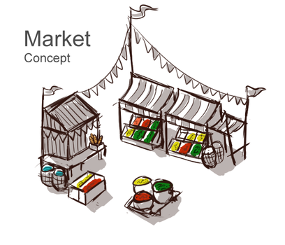 Market concept by Sun-Dragoness