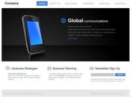 Media Website interface by drouch
