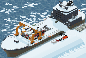 Arctic War - Container ship by Plutonia-V41