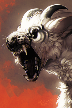 Commission for Velkss head close up by LiLaiRa