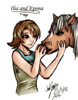 Collab: Ilia and Epona by Kathisofy