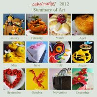 2012 Summary of Art Meme by cakecrumbs