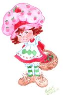 Strawberry Shortcake aquarel by landesfes
