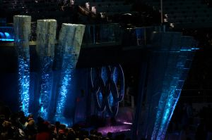 BC Place Olympic Stadium Blue by WestSideofMidnight