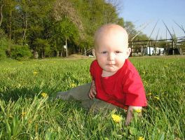 Liam in the grass by SolStock