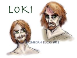 Loki: Colored Concept Sketches by MademoiselleMeg