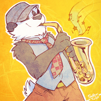 One Saxy Panda by super-tuler