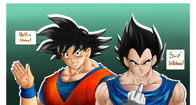 DBZ: The Sayians send their regards by wLadyB91