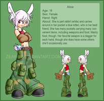 Alice Character Sheet by Zeakari