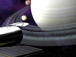 Saturn from Hubble Telescope by disjointdheart