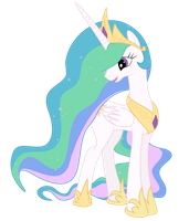 Princess Celestia vector by Elsdrake