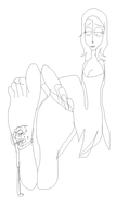 CB Giantess Emily feet lick by Victor (no color) by TheBurtontickler13