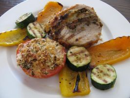 stuffed pork grilled veggies by chrisravensar