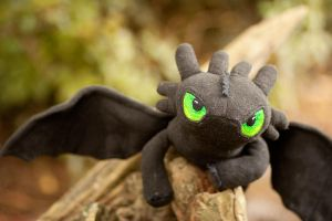 Toothless Plush by RoninBoxers