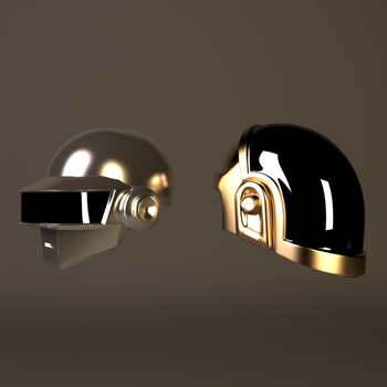 Gold And Grey Daft Punk Helmets 2 by GexANIMATOR