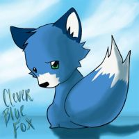 That Clever Blue Fox by DarrinIthamar